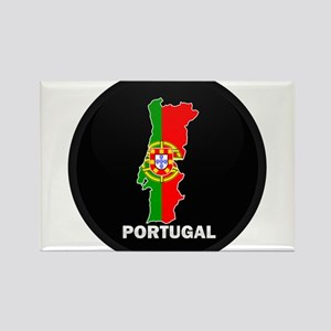 Flag Map of Portugal Rectangle Magnet